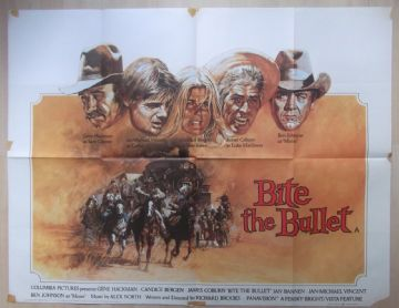 Bite the Bullet, UK Quad Poster, Gene Hackman, Candice Bergen, James Coburn,'75